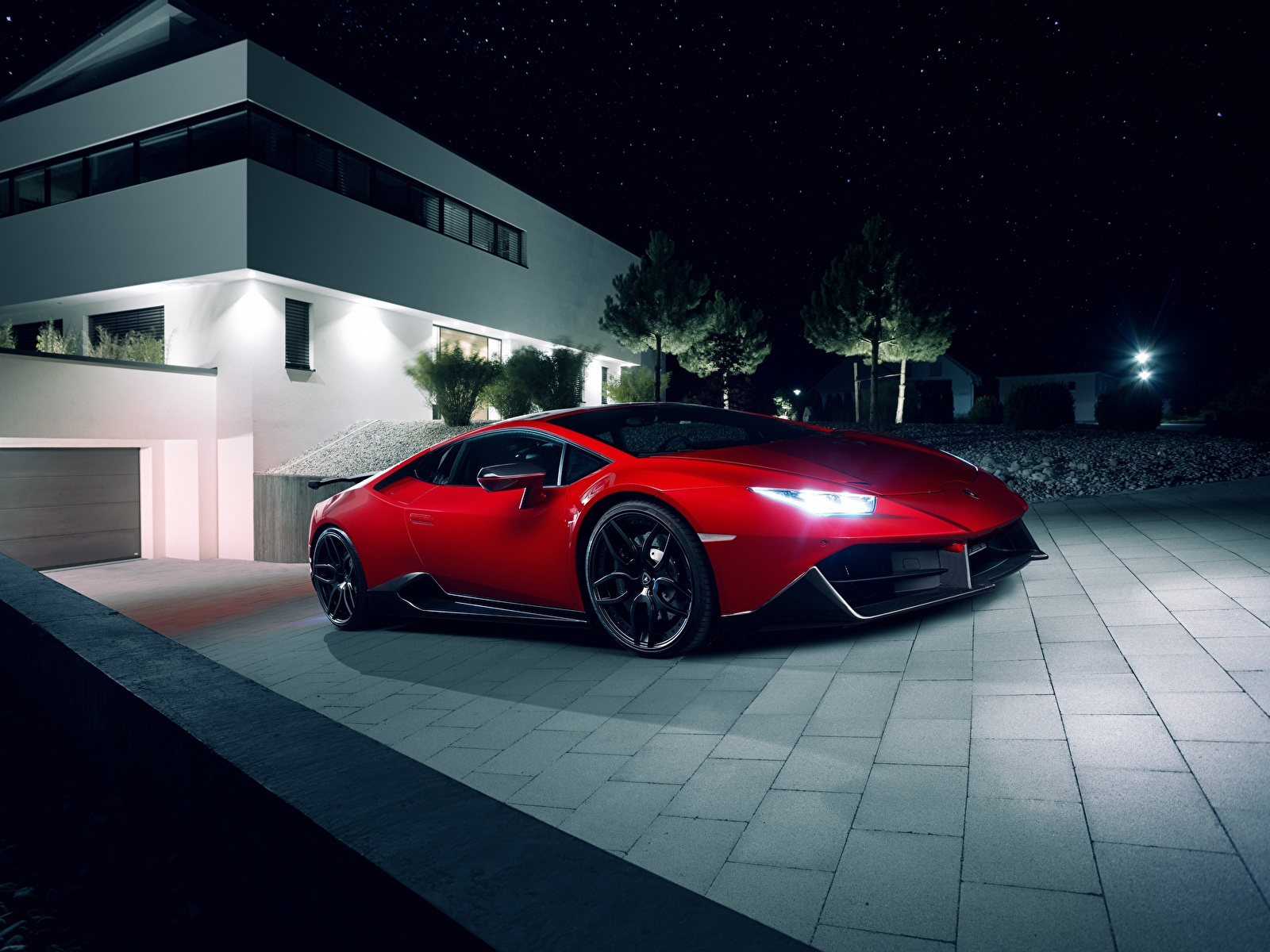 Bilder Lamborghini Novitec Torado Huracan Rot Autos 1600x1200