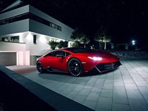 Bilder Lamborghini Rot Novitec Torado Huracan Autos