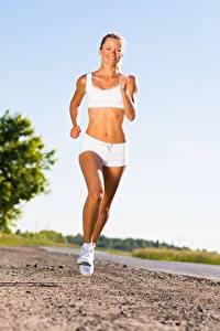 Hintergrundbilder Fitness Wege Lauf Mädchens