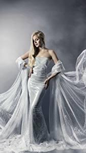 Fonds d'écran Les robes Beaux Blondeur Fille Filles