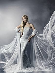Fonds d'écran Les robes Beaux Blondeur Fille
