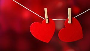 Hintergrundbilder Herz Rot 2 Wäscheklammer