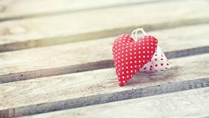 Papéis de parede Dia dos Namorados Tábuas de madeira Coração 2