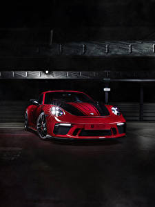 Wallpaper Porsche Wine color 2017-18 TechArt 911 GT3