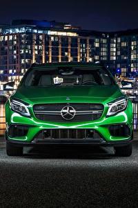Hintergrundbilder Mercedes-Benz Vorne Grün 4MATIC GLA AMG automobil