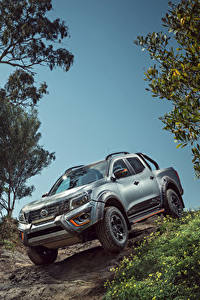 Hintergrundbilder Nissan Pick-up Graue Sport Utility Vehicle 2019-20 Navara N-Trek Warrior auto