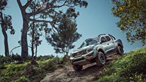 Hintergrundbilder Nissan Pick-up Graue Sport Utility Vehicle 2019-20 Navara N-Trek Warrior auto