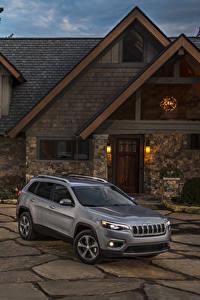 Papel de Parede Desktop Jeep Cinza 2019 Cherokee Limited carro