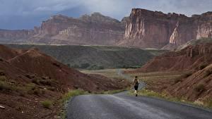 Fotos Straße Gebirge Vereinigte Staaten Park Laufsport Felsen Canyons Grand Canyon, Arizona, Colorado plateau Natur
