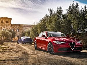 Fotos Alfa Romeo Rot Giulia Autos