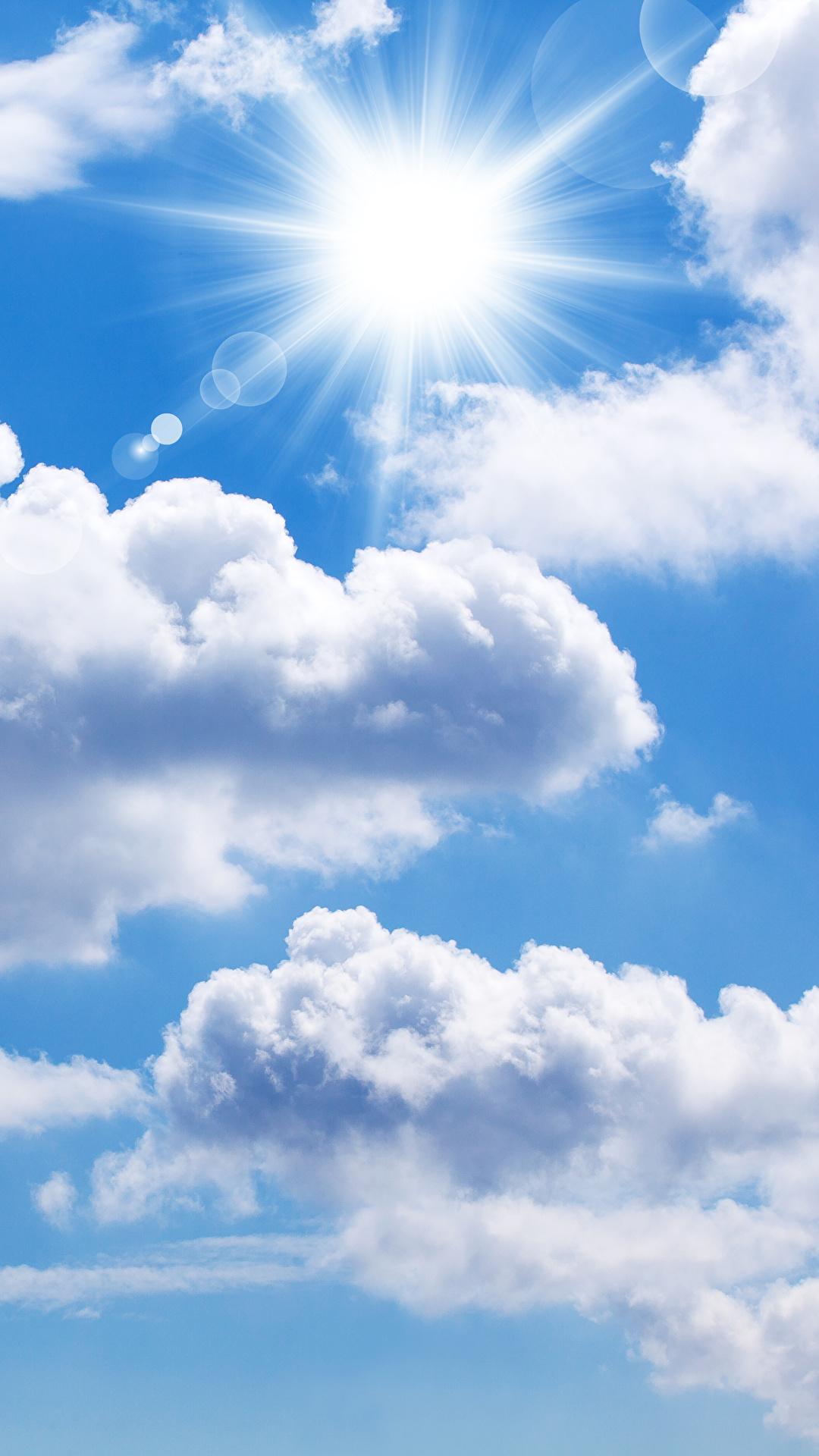 Bilder Natur Sonne Himmel Wolke 1080x1920