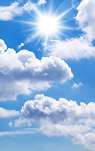 壁纸、、空、雲、太陽、