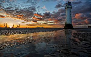 Fotos Vereinigte Staaten Landschaftsfotografie Sonnenaufgänge und Sonnenuntergänge Leuchtturm Himmel Küste Wolke Shoreline