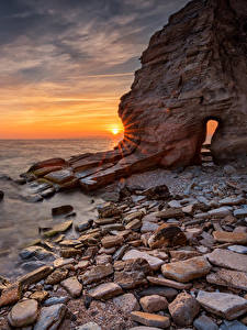 Bilder Bulgarien Küste Morgendämmerung und Sonnenuntergang Steine Felsen Black Sea coast Natur