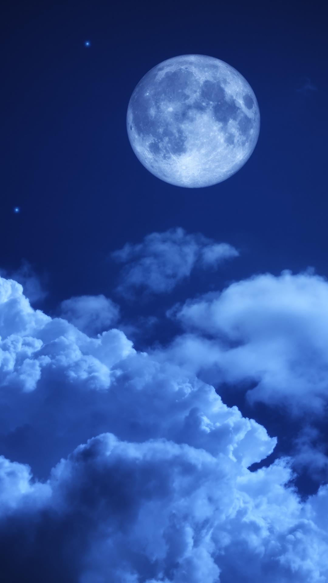 壁紙 1080x19 空 夜 月 雲 自然 ダウンロード 写真
