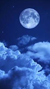 Bilder Himmel Nacht Mond Wolke Natur