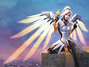 Bilder Overwatch Engeln Mercy Fantasy