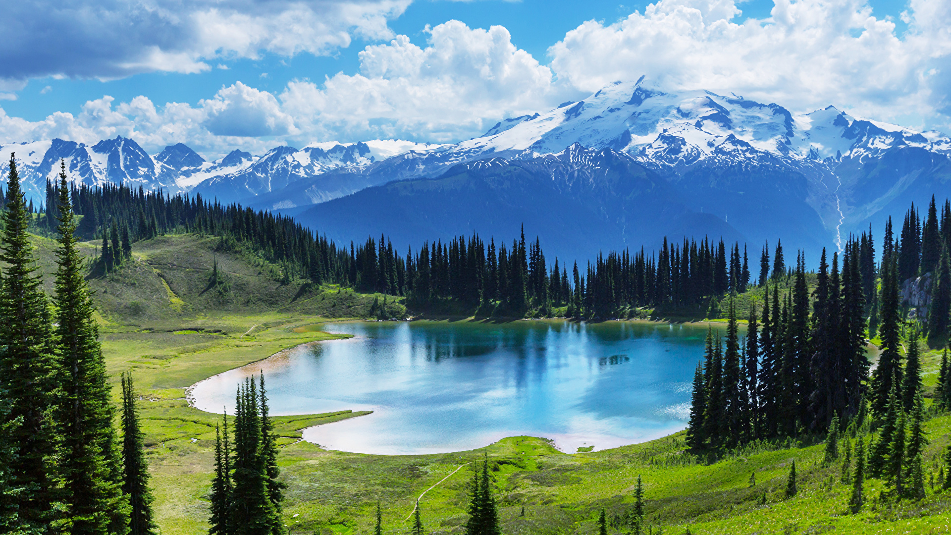 Fonds d'ecran 1920x1080 Photographie de paysage Montagnes Lac Prairies Canada Banff Nature ...