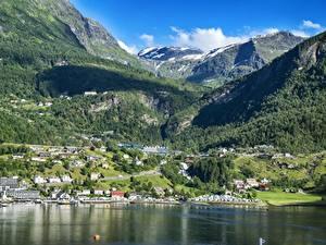 Hintergrundbilder Norwegen Gebirge Wälder Gebäude Landschaftsfotografie Schnee Bergen, North sea Städte