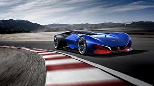 Bilder Peugeot Blau Bewegung Hybrid Autos 2016 L500 R HYbrid Concept