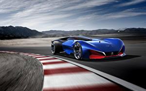 Bilder Peugeot Blau Bewegung Hybrid Autos 2016 L500 R HYbrid Concept Autos