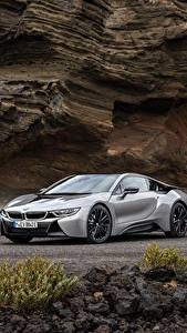 Wallpapers BMW Grey Metallic Coupe 2018 i8