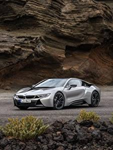 Fotos BMW Graue Metallisch Coupe 2018 i8 auto