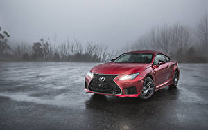 Hintergrundbilder Lexus Rot 2019 RC F Autos
