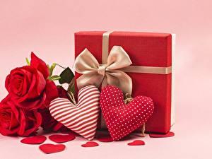 Papel de Parede Desktop Rosa Dia dos Namorados Coração Flores