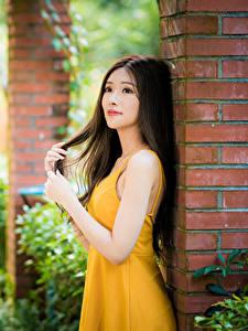 Hintergrundbilder Asiatische Unscharfer Hintergrund Kleid Hand Braune Haare
