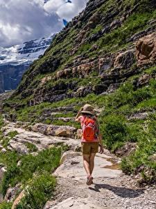 Hintergrundbilder Berg Reisender Weg Der Hut Spaziergang