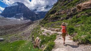 Hintergrundbilder Berg Reisender Weg Der Hut Spaziergang Natur
