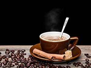 Hintergrundbilder Getränke Kaffee Zimt Schwarzer Hintergrund Tasse Getreide