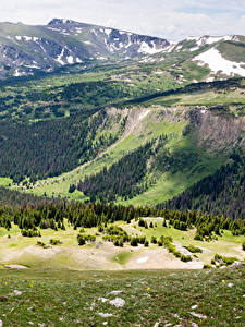 Fotos Vereinigte Staaten Park Gebirge Wälder Landschaftsfotografie Rocky mountain national park Natur