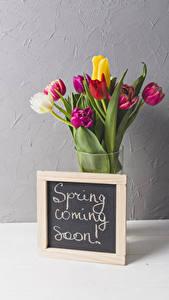 Fotos Sträuße Tulpen Englisches Blumen