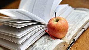 Hintergrundbilder Äpfel Buch