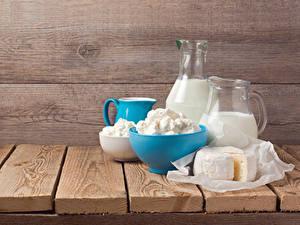 Fotos Milch Topfen Weißkäse Quark Hüttenkäse Käse Bretter Kanne Lebensmittel