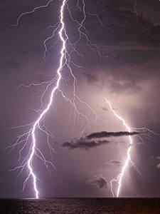 Hintergrundbilder Ozean Himmel Blitze Nacht South Carolina, Atlantic Ocean