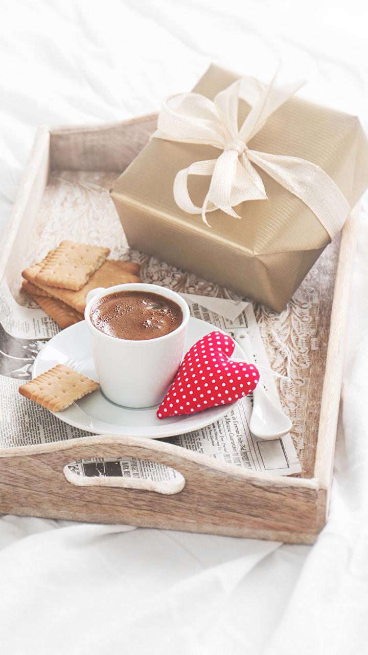 Foto Herz Kaffee Geschenke Kekse Tasse Lebensmittel 720x1280
