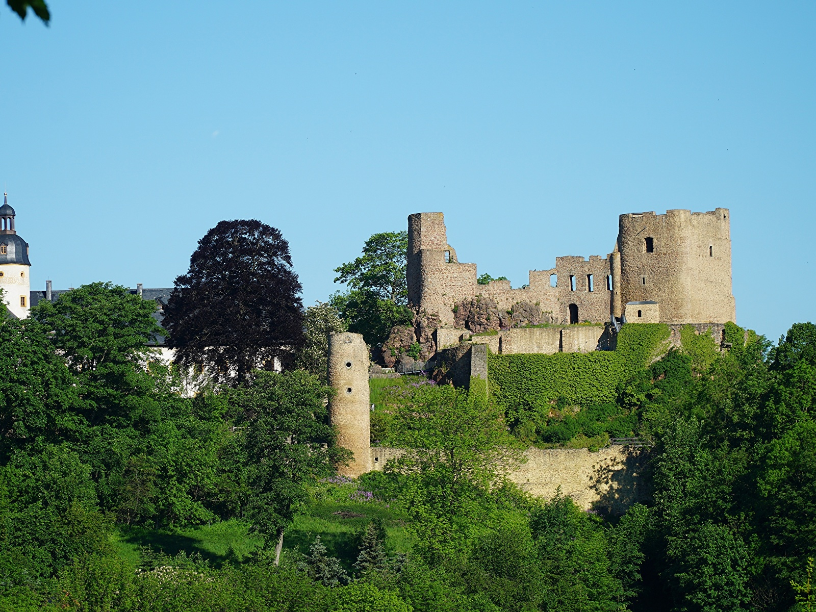 Picture Germany Fortress Frauenstein Saxony Eastern Ore 1600x1200