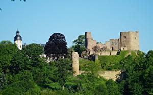 Bilder Deutschland Burg Festung Ruinen Frauenstein, Saxony, Eastern Ore Mountains