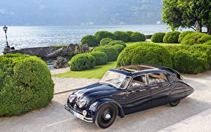 Hintergrundbilder Retro Blau Metallisch 1934-35 Tatra T77 Autos