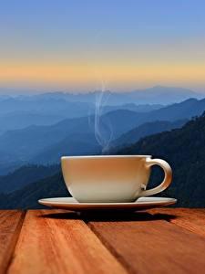 Hintergrundbilder Morgen Tasse Untertasse Dampf Natur