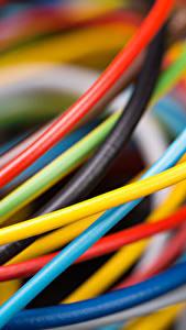 Fotos Hautnah Makro Elektrischen Draht Mehrfarbige