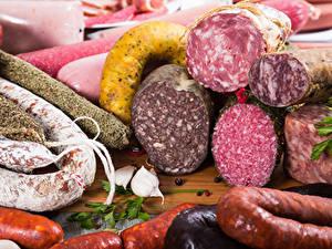 Bilder Fleischwaren Wurst Knoblauch