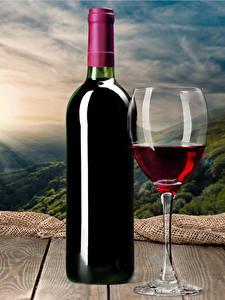 Fotos Wein Bretter Flaschen Weinglas Lebensmittel