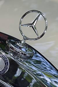 Hintergrundbilder Logo Emblem Großansicht Mercedes-Benz hood