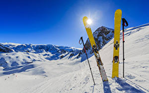 Picture Winter Skiing Snow Sun Sport