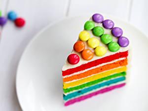 Papéis de parede Aniversário Bolo Pedaço Multicolor Alimentos