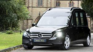 Fotos Mercedes-Benz Schwarz Metallisch 2017-19 Coleman Milne Mercedes-Benz E-Klasse Hearse Autos